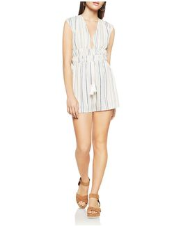 Sleeveless Striped Romper