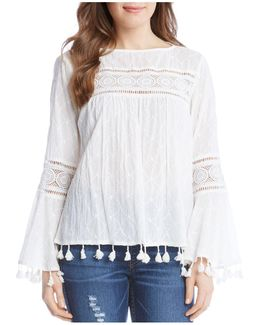 Tassel Trim Peasant Top