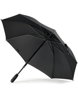 Stratus Chrome Stick With Matte Black Handle Umbrella