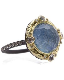 Diamond And White Sapphire Ring