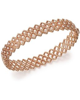 18k Rose Gold New Barocco Diamond Bangle