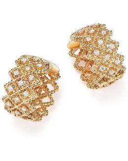 18k Yellow Gold New Barocco Diamond Earrings
