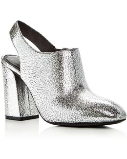 Clancy Metallic Leather Booties