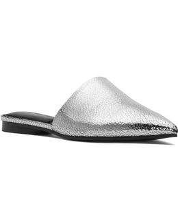 Collection Darla Crackled Metallic Pointed Toe Mules