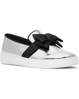 Collection Val Crackled Metallic Slip-on Sneakers