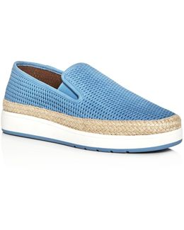 Maite Perforated Espadrille Slip-on Sneakers