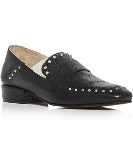 Bowan Studded Square Toe Loafers