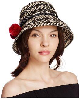 Basket Weave Cloche Hat