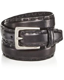 Feather Edge Belt With Pick Stitch Detail
