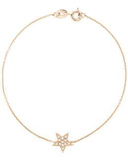 14k Rose Gold Julianne Himiko Diamond Star Station Bracelet