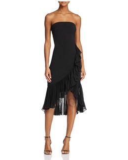 Infusion Strapless Ruffle Dress