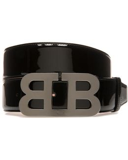 Mirror B Buckle Patent Leather Belt