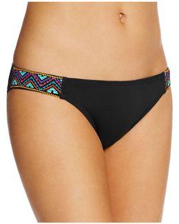 Embroidered Side Tab Bikini Bottom