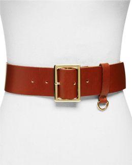 D-ring Leather Belt