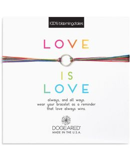 Love Is Love Rainbow Bracelet