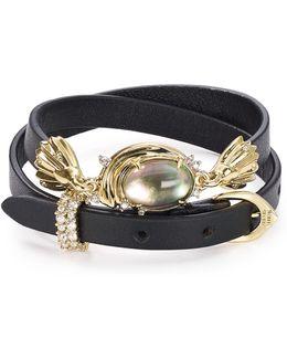 Studded Golden Array Wrap Bracelet