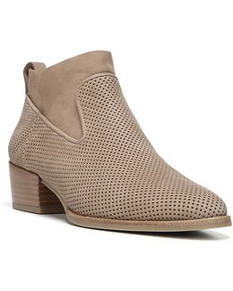 Tricia Perforated Block Heel Booties