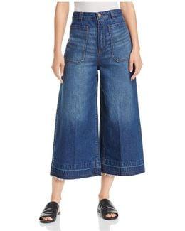 Dawn To Dusk Wide-leg Crop Jeans