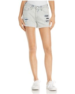 Kori Boyfriend Denim Shorts In Light Spectrum
