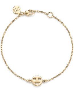 14k Yellow Gold Heart Eyes Emoji Bracelet