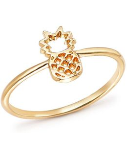 14k Yellow Gold Pineapple Ring