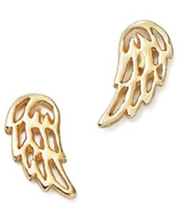 14k Yellow Gold Little Wing Stud Earrings