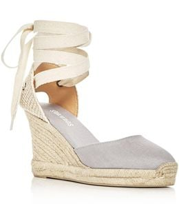Women's Lace Up Espadrille Wedge Sandals