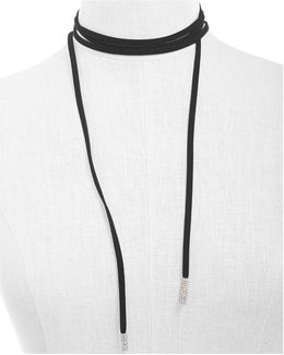 Suede Wrap Around Choker Necklace