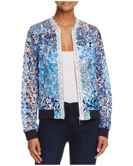 Corey Open Lace Bomber Jacket