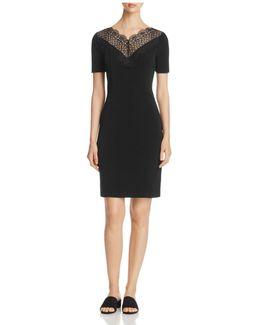 Lila Lace Neck Dress