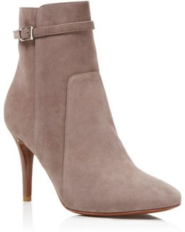Prism Suede High Heel Booties