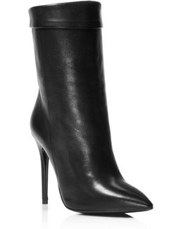 Sylvie Pointed Toe High Heel Booties