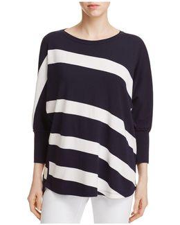 Bicolor Stripe Sweater