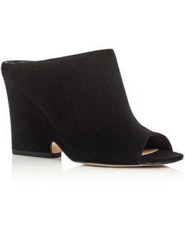 Wayne Peep Toe Wedge Slide Sandals