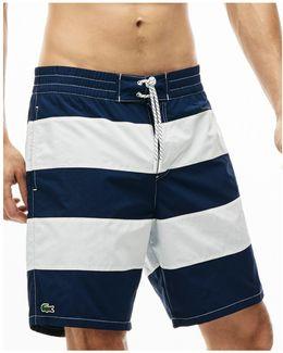 Bold Stripe Long-length Board Shorts