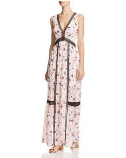 Floral V-neck Maxi Dress