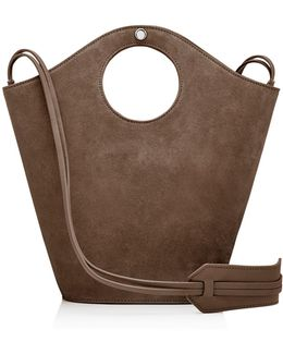 Market Small Suede And Leather Tote
