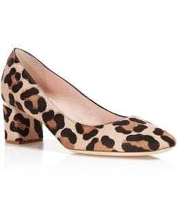 Dolores Too Leopard Print Calf Hair Pumps