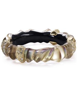 Crystal Sculpture Hinged Cuff