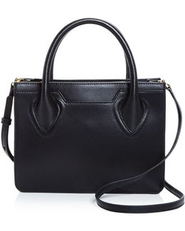 Tribeca Box Leather Satchel