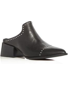 Clarice Block Heel Mules