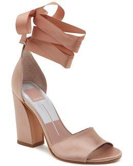 Harvy Satin High Heel Ankle Wrap Sandals