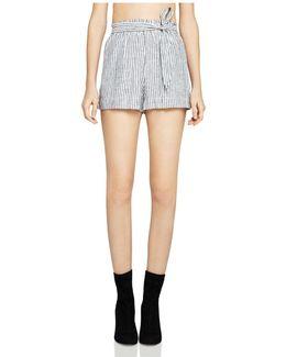 Striped Tie-waist Shorts
