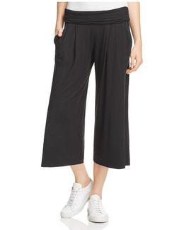Side Slit Crop Pants