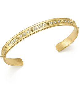 18k Yellow Gold Sueno Diamond Cuff