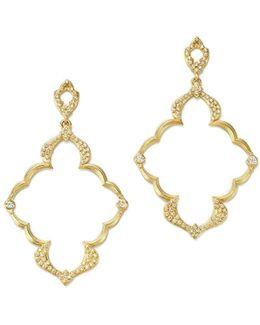 18k Yellow Gold Sueno Dulcinea Diamond Cravelli Earrings