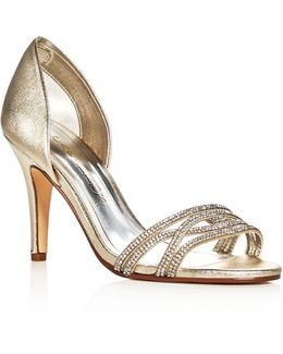Irina Metallic Embellished D'orsay Pumps