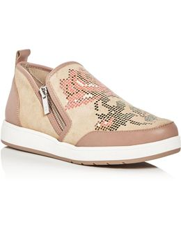Mylasp Floral Slip-on Sneakers