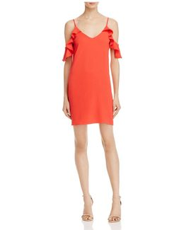 Cold-shoulder A-line Dress