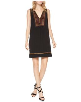 Sofia Embroidered Shift Dress